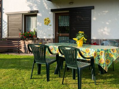 Photo for Cottage in Trentino with enclosed garden