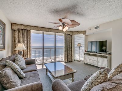 Photo for Crescent Shores 510, 4 Bedroom Beachfront Condo, Hot Tub and Free Wi-Fi!