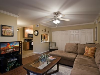 Photo for Old Town Scottsdale one bed condo near Spring Training and Golf - 2 Olympic size pools and a larg...