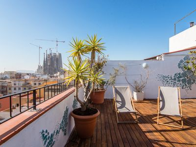 Photo for Exclusive Sagrada familia penthouse with sea views