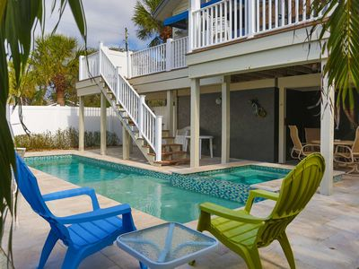 Photo for Large Beach House in Historic Pass-a-Grille. Short Walk to Downtown. Private Pool.