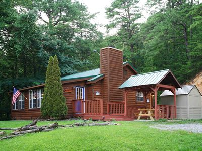 Photo for HAMPTON HILL - Ultimate 2bed/2bath Secluded Cabin with Hot Tub & Wifi