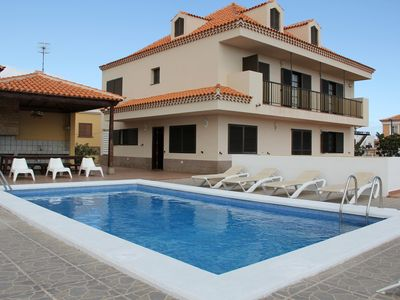 Photo for Large detached villa with private pool, WIFI and BBQ