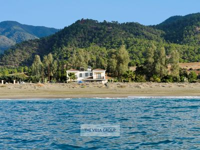Photo for Mediterranean Sea on your doorstep! Beachfront 4 bedroom villa
