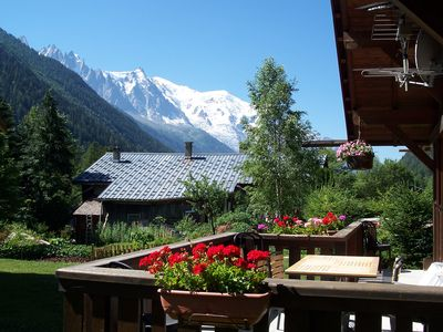 Photo for Argentière, small chalet with exceptional views of the Mont Blanc range