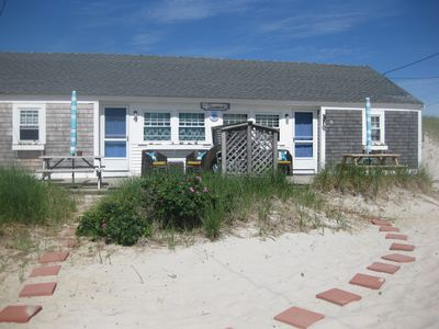 Photo for Beachfront Cottage on Mayflower Beach, Dennis Village off Historic 6A