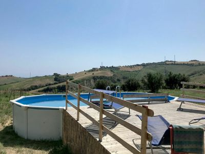 Photo for Cosy apartment in villa for 17 guests with A/C, hot tub, pool, WIFI, TV, pets allowed and parking
