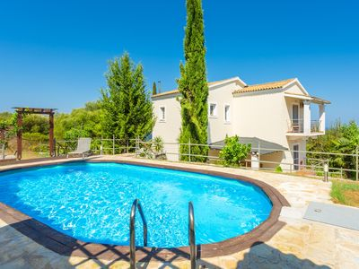 Photo for Villa Mavrikia: Large Private Pool, A/C, WiFi, Eco-Friendly