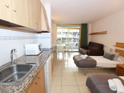 Photo for Studio with capacity for 2/4 people in La Salou.  Layout - Living room with TV, zone d