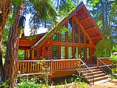 Photo for Beautiful Log Home Nestled In The Woods Adjacent To Ingalls Creek.
