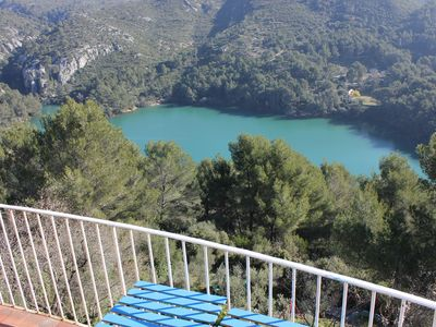 Photo for House (F6) Provencal village, 15 minutes from the beach, quiet, incomparable view of lake