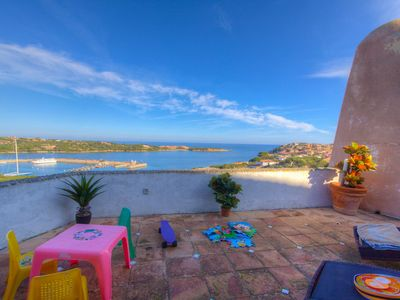 Photo for 🏆 53SC Porto Cervo - 🌅 Seaview ❄️A/C 4+2 sleeps Large Private Terrace,