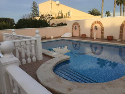 Photo for Luxury semi-detached villa, 2 bedrooms, 2 bathrooms, private pool