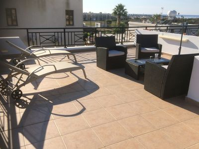 Photo for Fabulous Roof Terrace near Tombs of the Kings on small complex with pool