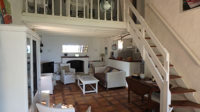 Photo for Villa with garden and terrace sea view, direct access 180m from the beach, 8 pers