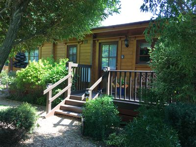 Photo for Holly Lodge, Adults Only Log Cabin, Cedar Springs, Heacham. 5 Mins Walk to Beach