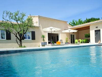 Photo for Brand new house, with all comfort and pool, at the foot of the Mont Ventoux.