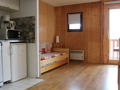 Photo for Quiet and sunny apartment, Valmeinier 1800 center, close to shops and ski