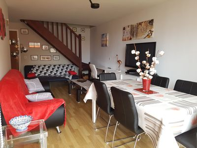 Photo for Appart T3 Duplex Hendaye Plage 7 Pers 50m from the beach 100m shops WIFI