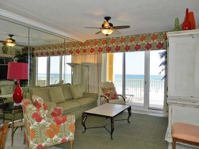 Photo for Gulf Front Condo ~ Private Balcony and Community Pool ~ Close to Downtown Ft. Walton Beach!
