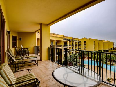 Photo for Gulf view condo at beachfront resort w/ movie room & shared pools/hot tubs!