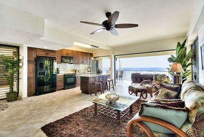 """Kitchen and Great Room completely open to the """"Ocean View"""""""