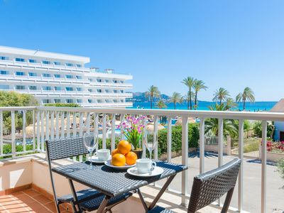 Photo for YourHouse Roses 16 - sea view apartment a few steps from Playa de Muro