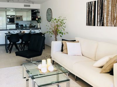 Photo for Apt Orchid Garden. Modern, airy 3 bed, sleeps 6, walk to Banus! ASK ACC RATE!!!