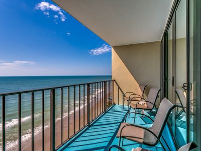 Photo for 2 Bedroom Oceanfront Incredible Views - Free Water Park, Aquarium, & Golf Every Day! HE702
