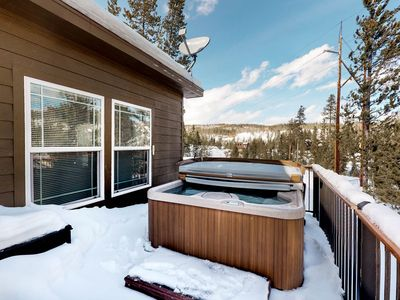 Photo for Family-friendly, dog-friendly home w/ mountain views, private deck, and hot tub!