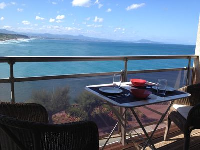 Photo for sea-mountain view, HYPER-CENTER, 2 pers. Côte des Basques. BALCONY. CAR PARK. WIRELESS