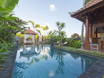 Photo for Traditional Javanese Style 3 BR Villa in A Quiet Part of Canggu, 1 Km from Beach