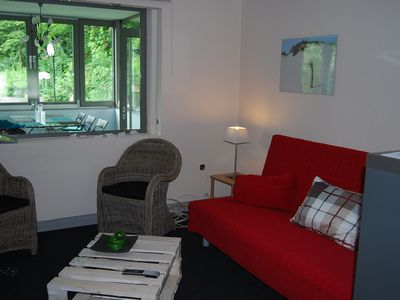 Photo for Spacious apartment with terrace (101 sqm.)  close to town (10 min train ride) in the open