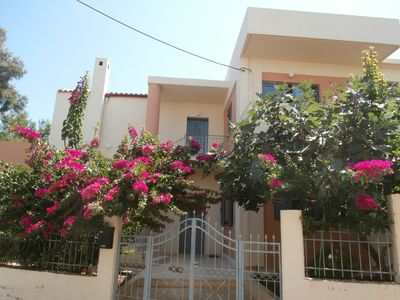 Photo for Apartment, 150m from the beach with sea view and private parking