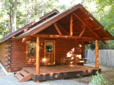 Photo for Charming Log Cabin In Blue River: Mckenzie River Area: Outdoor Dream