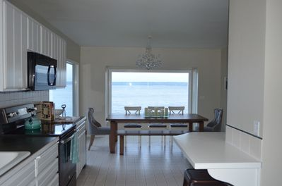 Walk In Kitchen with Counter Seating & Table Dining