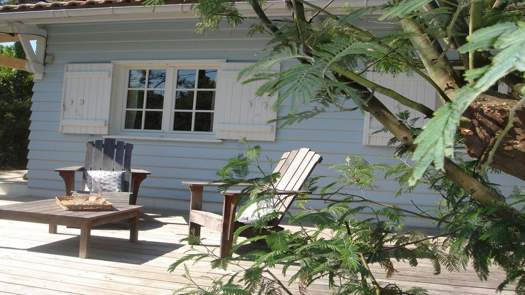 Cap Ferret, 44 hectares, Hortense district, very pretty wooden house ...
