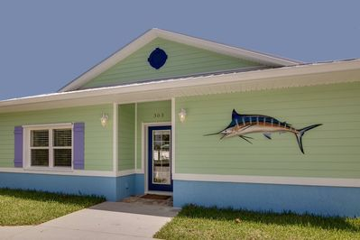 Cocoa Beach-Brand new 2800 sq ft Key West Style Vacation Villa.