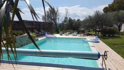 Photo for New four-star gîte. 3 /. pers, swimming pool, near beaches, quiet, Le Figuier