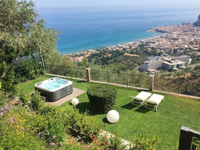 Photo for Homerez last minute deal - Amazing villa with sea view and Wifi