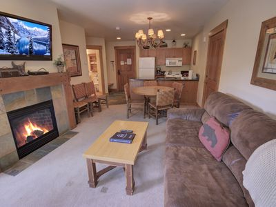 Photo for This 1 bedroom condo can be rented together with Springs #8839 to create a large 2 bedroom. You will love the location and amenities of the Springs. This property has great views of the slopes and gondola plus the pool area. You are close to all the action