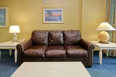 Living Room - Comfortable leather furniture in the living room