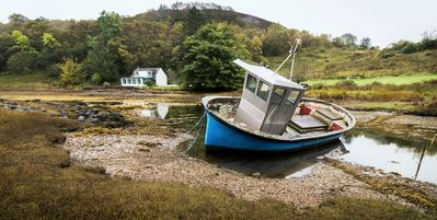 Photo for A Cottage on the shore of Isleornsay Bay with Spectacular Mountain and Sea Views