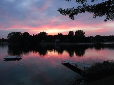 Beautiful sunsets facing west on Lake Camelot!