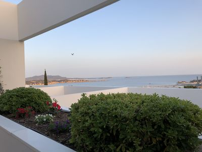 Photo for Comfortable apartment, large sea view terrace in residence with swimming pool, near beaches and shops
