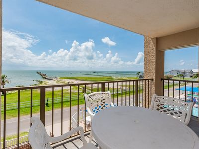 Photo for Tradewinds - Third floor views of the bay and the pool! Spacious one bedroom condo.