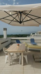 Photo for Nova Siri marina: Penthouse with sea view, large terrace, Wi-Fi. Boat trips and fishing