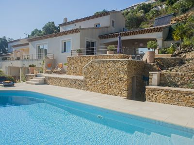 Photo for Beautiful and Large Luxurious Villa - Panoramic Sea View - Golf de Valcros