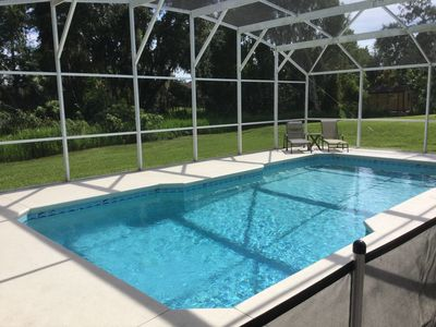 Over sized pool - not overlooked and pool safety fence if needed - removable