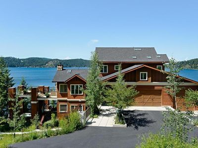 Photo for Coeur d' Alene Lakefront Luxury Retreat With Hot Tub, Sauna, Boat Slip And More.